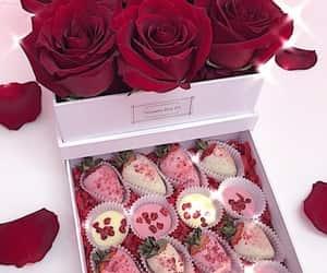 cake, dessert, and strawberries image