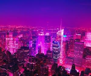 city, pink, and nueva york image