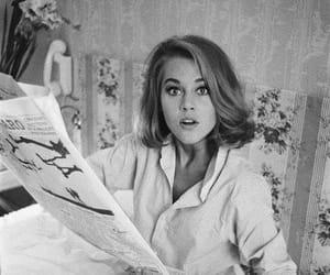 jane fonda, black and white, and vintage image