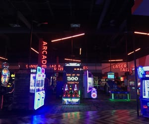 aesthetic, arcade, and lights image