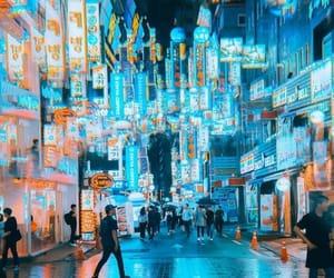 japan, lights, and neon image