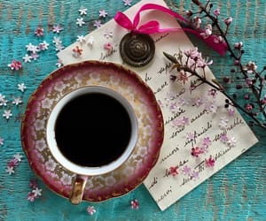coffee, good morning, and Letter image