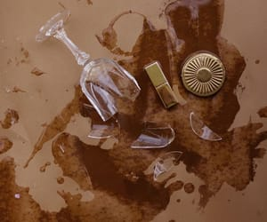 broken glass, brown, and cosmetics image