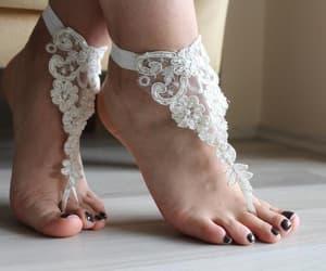 beach wear, beach shoes, and beach wedding shoes image