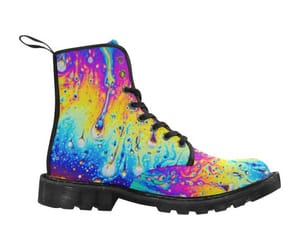 custom shoes, cosmic trip, and dr martens image