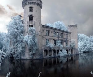 castle, enchanted, and winter image