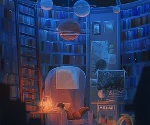 chill, night, and ravenclaw image