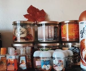 autumn, candles, and hand image
