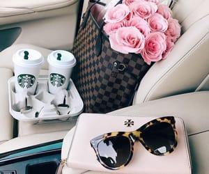 rose, coffee, and fashion image