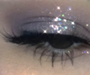 makeup, aesthetic, and glitter image
