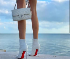 boots, chanel, and louboutin image