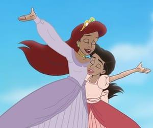 ariel, cartoons, and princesses image