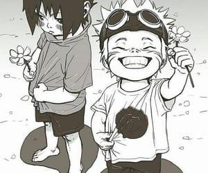 anime, kawaii, and sasuke image