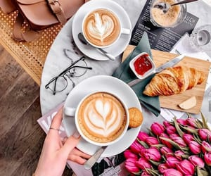 coffee and tulips image