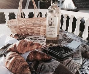 food, croissant, and drink image