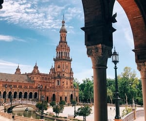 spain, travel, and plaza de españa image
