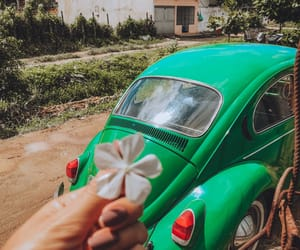 cars, fusca, and girl image