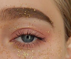 glitter, eyes, and girl image