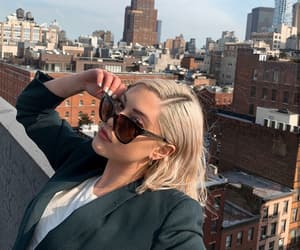 blonde, spring, and sunglasses image