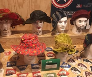 coasters, hats, and heads image