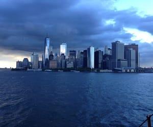 blue, city, and light image