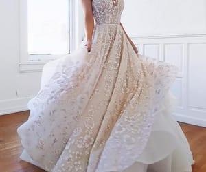 bride, twirl, and wedding image