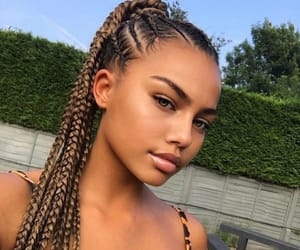 beauty, braids, and natural image