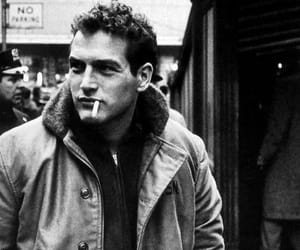 black and white, vintage, and paul newman image