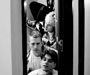 backstage, black and white, and tour image