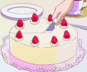 anime, cake, and food image