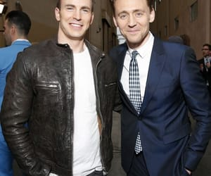 chris evans and tom hiddleston image