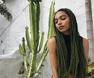 braids, green, and hair image