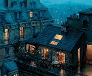 city, paris, and house image