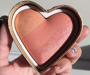 makeup, heart, and beauty image