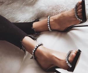 heels, sparkle, and high heels image