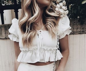 blond, clothes, and fashion image