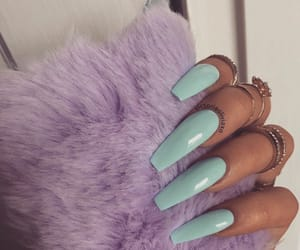 accessories, acrylic nails, and whi image