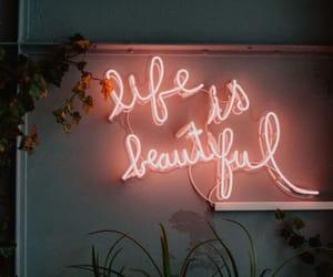 life, neon, and light image