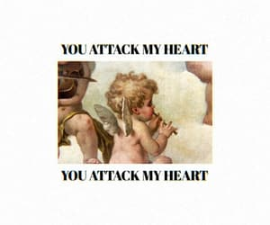 aesthetic, angels, and heart attack image