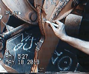 fashion, girls, and graffiti image