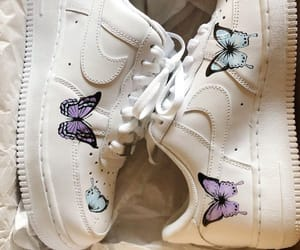 butterfly, nike, and shoes image