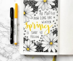 flowers, inspiration, and journal image