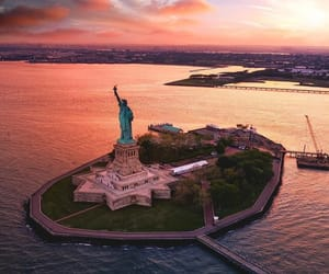 new york, places, and sunset image