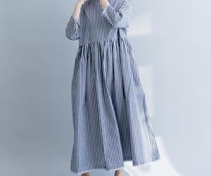blue dress, etsy, and maxi dress image