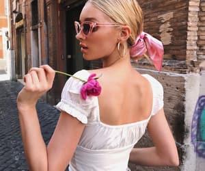elsa hosk, model, and flowers image