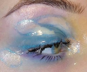 blue, eyeshadow, and makeup image