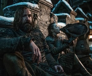 arya stark, sandor, and the hound image