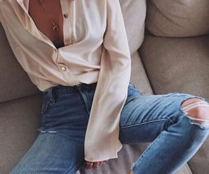 blouse, denim, and outfit image
