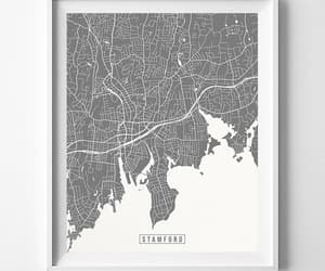 connecticut, livingroom, and map print image