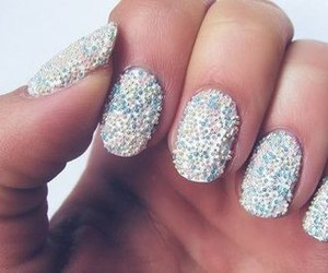 nails, sparkle, and white image